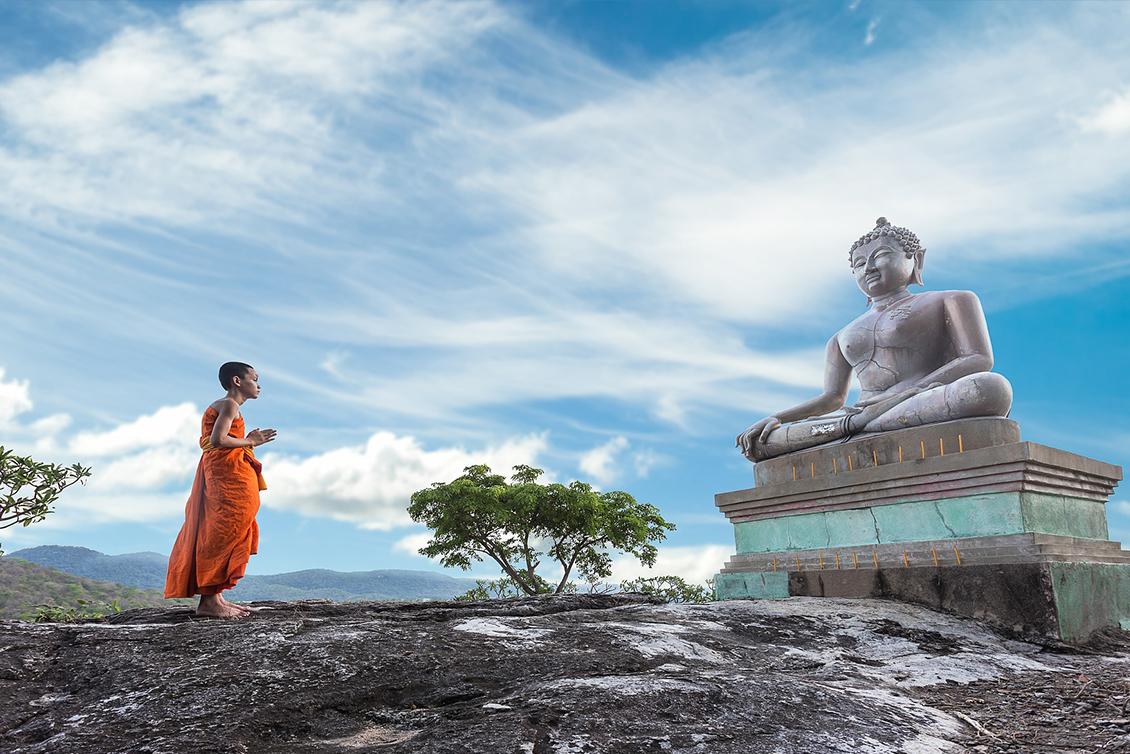 少年僧侶と大仏